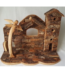 Bark Tower Nativity with...