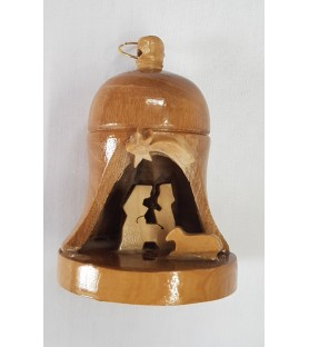 Olive Wood Bell Nativity
