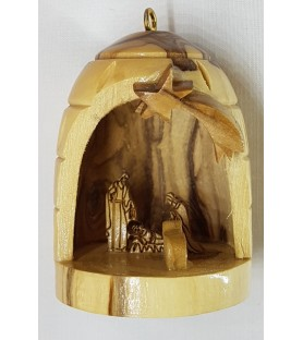 Olive Wood Detailed Bell...